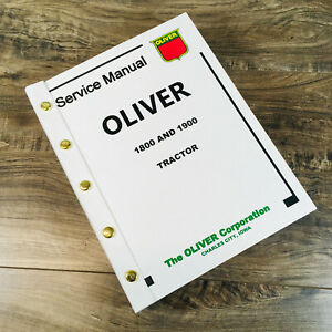 Oliver 1800 1900 Tractor Service Manual Repair Shop Technical Workshop Book