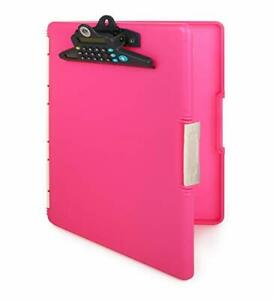 Dexas Slimcase 2 Storage Clipboard With Side Opening And Calculator Pink