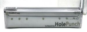 Franklin Covey Hole Punch Monarch Size Silver Metal Holds 6 Sheets New In Box