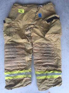Firefighter Honeywell Morning Pride Turnout Bunker Pants 38x28 Costume Used