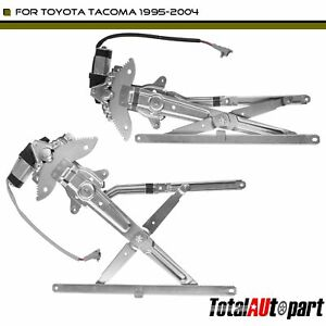2pcs Power Window Regulator With Motor For Toyota Tacoma 1995 2004 Front Lh Amp Rh