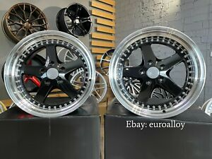 New 4x 18 Inch 5x120 Work Equip Style Black Wheels For Bmw Jdm Old School Japan