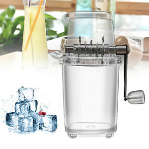 Manual Ice Crusher Shaver Snow Cone Shaved Machine Home Use Party Event Portable