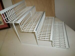 4 Tier Counter Top Metal Display Rack White Heavy Duty Used Good Condition