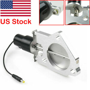 3 Racing Electric Exhaust Cutout Valves Control Motor Kit Stainless Steel