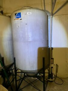 350 Gal Cone Bottom Water Tank W base Hdpe Barely Used 3 Available Price Per Ea
