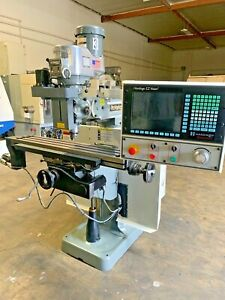 Bridgeport Milling Machine With 3 Axis Ez Vision Control Stock 8081