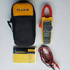 Fluke 374 True Rms Clamp Meter With Zip Up Case Test Leads Manual