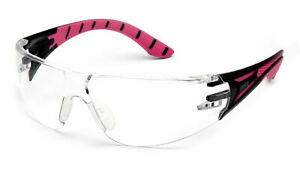 Pyramex Endeavor Plus Pink Clear anti Fog Safety Glasses Womens
