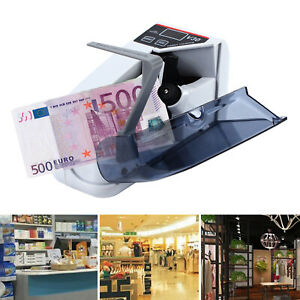 Portable Handy Bill Cash Money Count Machine Banknote Currency Counter Adapter