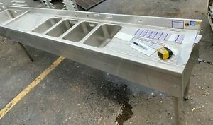 Sink Bar 126 Long 4 Bowl W t 2 Draining Tables And Ice Bin Insulated