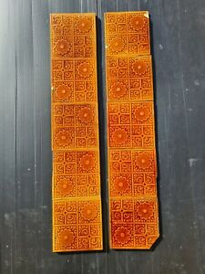 Set Of Antique Fireplace Tiles Early 1900s Ae2