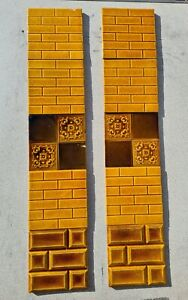 Set Of Antique Fireplace Tiles Early 1900s Ae4