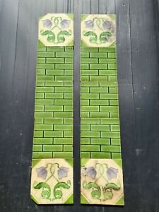 Set Of Antique Fireplace Tiles Early 1900s Ae6