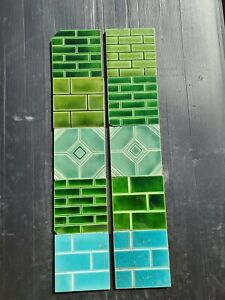 Set Of Antique Fireplace Tiles Early 1900s Ae5