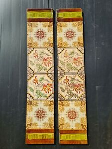 Set Of Antique Fireplace Tiles Early 1900s Ae7