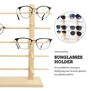 1pc Sunglasses Glasses Holder Wood Stand Display Rack For Store Eyewear
