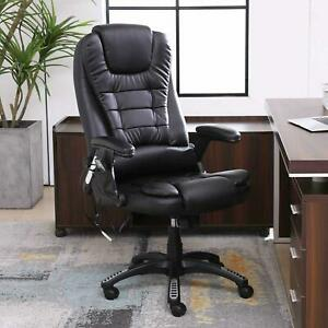 New Office Chair Black Leather Rotary Electric Massage E sports Chair Recliner
