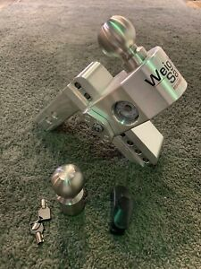 Ws 6 2 Aluminum Trailer Hitch With Stainless Steel Tow Balls