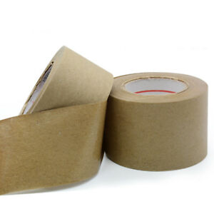 30m Brown Krafts Paper Gummed Tape Reinforced Water Activated Sealed Carton Tape