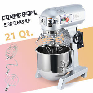 1100w Commercial Stand Mixer 20 L Electric Food Mixing Machine W 3 Attachments