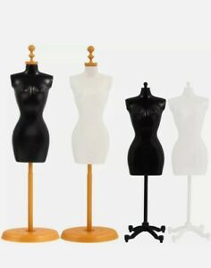 Small Desk sized Sewing Dressmakers Female Mannequin With Base Stand 4 Pieces