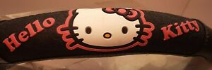 Sanrio Hello Kitty Steering Wheel Cover Car Truck Boat Black With Pink 14 5