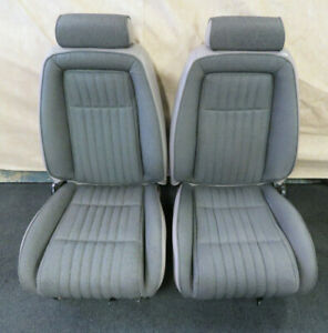 1987 1993 Ford Mustang Coupe Gt Tweed Seats Oem Factory Titanium Gray Original