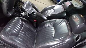 01 05 Chevy Monte Carlo Ss Tony Stewart Leather Seat Set Front Rear Black 19i
