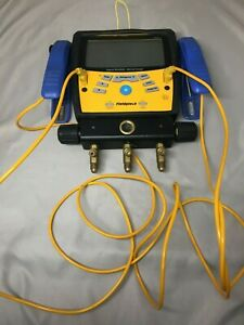 Fieldpiece Sman360 3 port Digital Manifold Micron Gauge For Parts As is