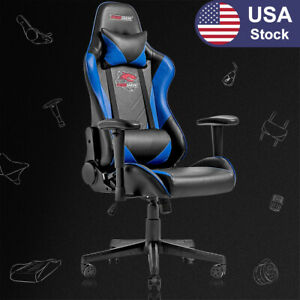Racing Style Computer Gaming Chair Ergonomic Recliner Swivel Office Chair blue