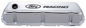 Proform 302 071 Ford Racing 289 302 351w Chrome Black Steel Tall Valve Covers