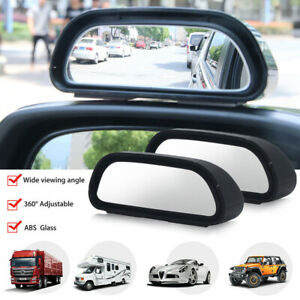 2 Pcs Universal 360 Wide Angle Car Auto Rear Side View Convex Blind Spot Mirror