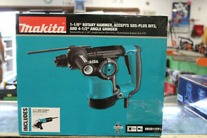 New Makita Hr2811fx 1 1 8 Inch Rotary Hammer Drill With Angle Grinder Sealed