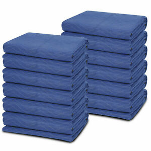 12 Moving Packing Blankets 80 X 72 Professional Quilted Shipping Furniture Pad
