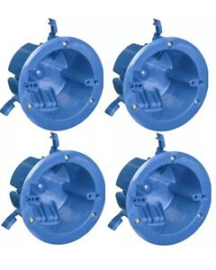 4 Pack B618r 1 gang 18 Cubic Inch Round Old Work Electrical Box Ceiling