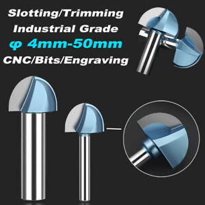 Round Bottom Router Bits End Mill 6 35 12 7mm Slotting Trimming Milling Cutter