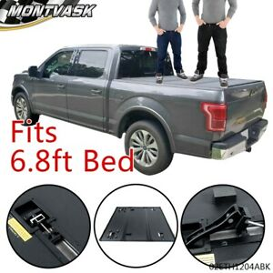 Hard Tri Fold Tonneau Cover Fit For 99 16 F 250 F 350 F 450 Super Duty 6 8ft Bed