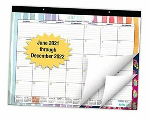 Desk Calendar 2021 2022 Large Monthly Pages 22 x17 Runs From June 2021