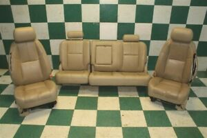 2010 Gm Truck Tan Leather Dual Power Heated Cooled Bucket Seats Tracks Backseat