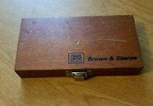 Brown Sharpe Outside Micrometer With Box Swiss Made
