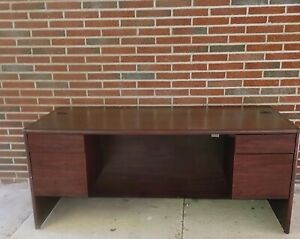 Used Executive Office Desk And Matching Credenza
