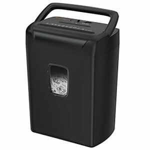 Paper Shredder Cross Cut For Home Office With Gallon Basket Handle Design