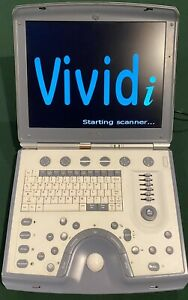 Ge Vivid i Ultrasound Machine including Carrying Cases And Two Probes
