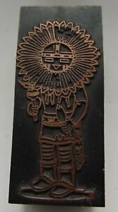 Printing Letterpress Printers Block Person With Flower Head