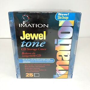 Cd Or Dvd Cases Imation Jewel Slim Line Multi colored New Sealed R1