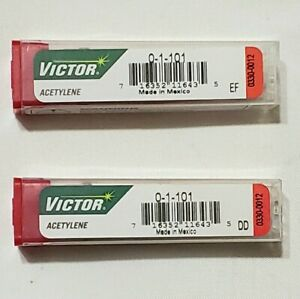 Victor 0 1 101 Acetylene Cutting Torch Tip Lot Of 2 St2600fc Ca2460 Mt210 Mt204