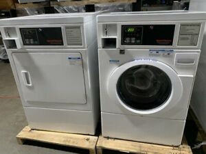 Speed Queen Commercial Front Load Washer Gas Dryer Coin Operated Set used