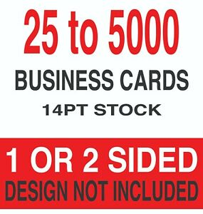 Best Value Business Cards 3 5 X 2 14pt 1 Or 2 Sides Choices Available