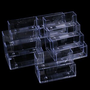 Desktop Office Business Card Holder Transparent Counter Display Stand Acce ss